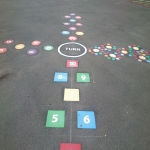 Thermoplastic Play Area Markings in Bowbrook 11