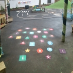 Thermoplastic Play Area Markings in Aberwheeler/Aberchwiler 12