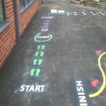 Early School Line-Markings  in Caerphilly 1