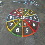 Thermoplastic Play Area Markings in Bilsby Field 9