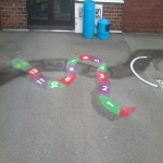 Thermoplastic Playground Graphics in Almondbank 2
