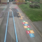 Thermoplastic Play Area Markings in Achaleven 2