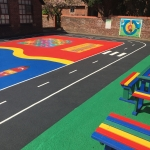 Thermoplastic Playground Graphics in Almondbank 1