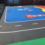 Thermoplastic Play Area Markings in Bilsby Field 10