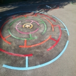 Thermoplastic Play Area Markings in Asby 1