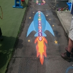 Thermoplastic Play Area Markings in Abergarwed 8