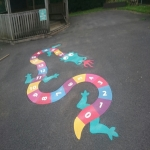 Thermoplastic Play Area Markings in Abergarwed 1