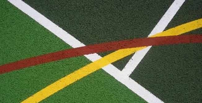 MUGA Line Marking  in Abertrinant