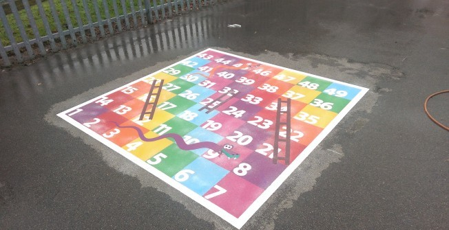 EYFS Playground Markings in Aggborough
