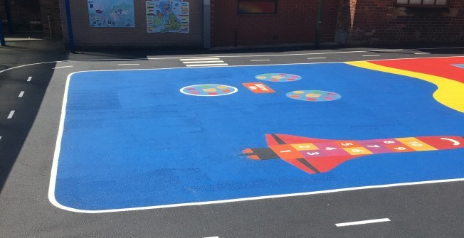 Play Markings for Nurseries in Nant-glas