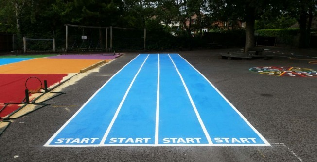 School Track Painting in East Dunbartonshire