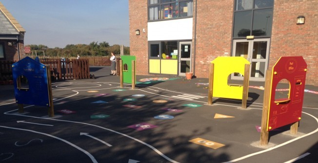 HDPE Play Panels in Abbots Morton